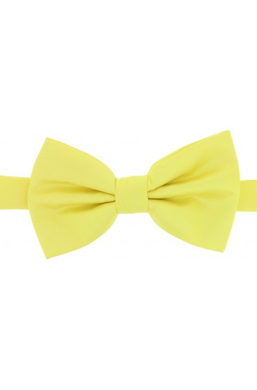 Soprano Satin Silk Canary Yellow Luxury Bow Tie