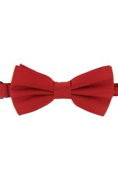 Soprano Satin Silk Red Luxury Bow Tie