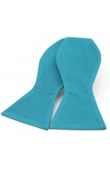 Soprano Satin Silk Teal Luxury Self Tied Bow Tie
