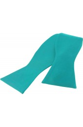 Soprano Satin Silk Turquoise Luxury Self Tied Bow Tie