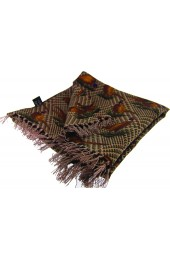 Soprano Silk Aviator Scarf With Standing Pheasants On Tweed Ground