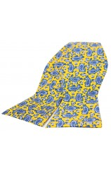 Soprano Silk Edwardian Small Paisley Self Tie Bow On Yellow Ground