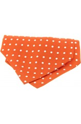 Soprano Silk Orange Polka Dot Cravat