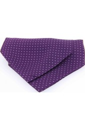 Soprano Silk Pin Dot Lilac and Purple Cravat