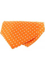 Soprano Silk Twill White Polka Dots On Orange Ground Cravat