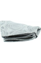 Soprano Silver Rose Mens Silk Pocket Square