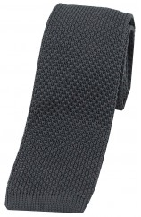 Soprano Slate Grey Knitted Polyester Tie