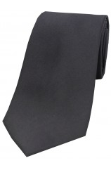 Soprano Slate Grey Satin Silk Tie