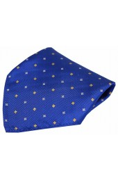 Soprano Small Flowers Blue Silk Pocket Square