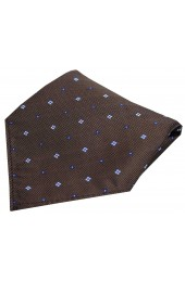 Soprano Small Flowers Brown Silk Pocket Square