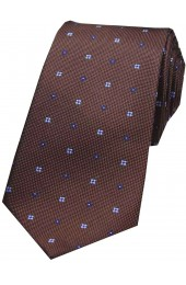 Soprano Small Flowers Brown Silk Tie