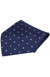 Soprano Small Flowers Navy Silk Pocket Square