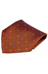 Soprano Small Flowers Orange Silk Pocket Square
