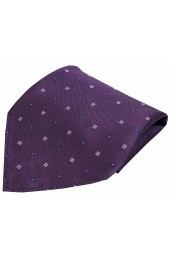 Soprano Small Flowers Purple Silk Pocket Square