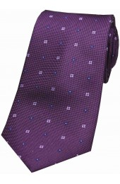 Soprano Small Flowers Purple Silk Tie