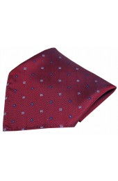Soprano Small Flowers Wine Silk Pocket Square