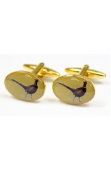 Soprano Standing Pheasants Country Cufflinks