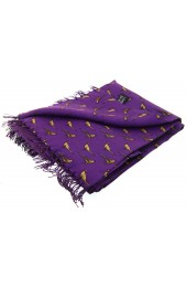 Soprano Standing Pheasants On A Purple Ground Silk Aviator Scarf