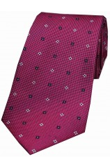 Soprano Tiny Flowers Wine Silk Tie