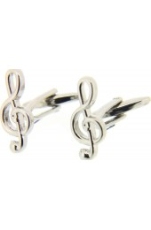 Soprano Treble Clef Silver Colour Cufflinks