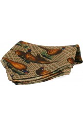 Soprano Tweed Standing Pheasant Silk Pocket Square