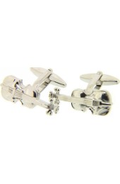 Soprano Violin Silver Colour Cufflinks