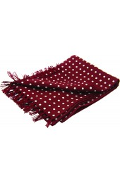 Soprano White Polka Dot On A Wine Ground Silk Aviator Scarf