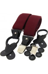 Soprano Wine 35mm Leather End Braces