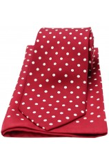 Soprano Wine and White Polka Dot Matching Silk Tie and Pocket Square