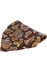 Soprano Wine Ground With Large Paisley Design Mens Pocket Square