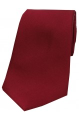 Soprano Wine Satin Silk Tie