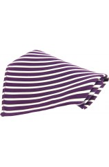 Soprano Wine Striped Silk Pocket Square