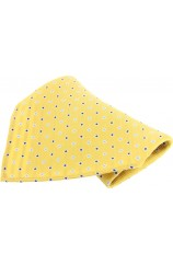 Soprano Yellow With Small Squares Silk Pocket Square